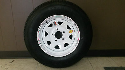 225/75D15, 5 LUG,  5X5 BOLT TRAILER TIRE AND WHEEL 15 INCH 8PLY TIRE 225/75D15""