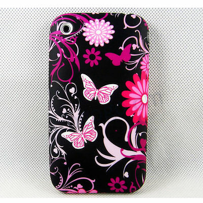 Butterfly Skin Soft Rubber TPU Phone Back Cover Case  For Apple Iphone 3G 3GS