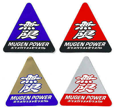 A52 sticker autocollant adhésif - MUGEN POWER - tuning styling auto triangle