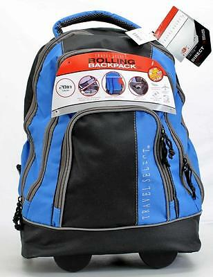 "TRAVEL SELECT DIRECT 20"" BLUE TS0045 WHEELED CARRY ON BACKPACK SUITCASE     7758"