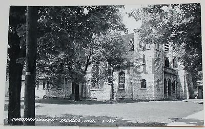 Vintage RPPC SPENCER INDIANA IN Christian Church Real Photo Postcard