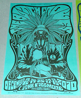 Black Crowes Fillmore 2010 4 poster set Rare Signed and numbered Forbes Mint