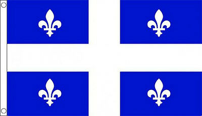 QUEBEC FLAG 5' x 3' Canada Flags France French Canadian State