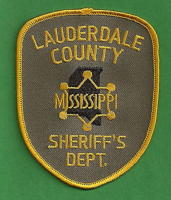 LAUDERDALE COUNTY SHERIFF MISSISSIPPI POLICE PATCH