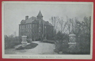 ANTIQUE POSTCARD-ADMINISTRATION BUILDING-HUNTINGTON COLLEGE-INDIANA-#2