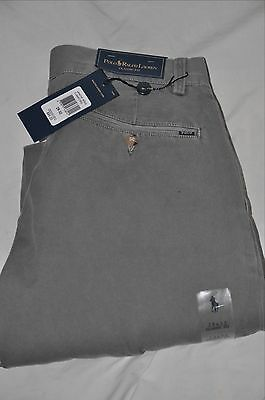 NWT Ralph Lauren Polo men's gray chino khaki pants 28-32 NEW $85