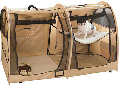 Portable Soft-Side Small Dog or Cat Travel Carrier Pet Kennel Crate PDH-DBL