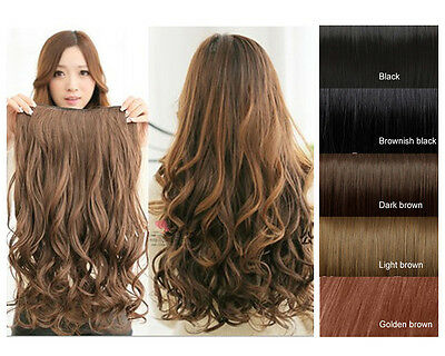 Dark Brown Heat Resistant Long Curly Wavy Women Cosplay Full hair Wigs Party