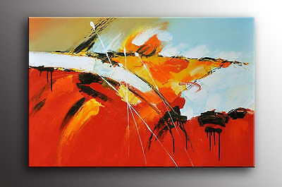 """Modern OIL PAINTING 36x24""""H STRETCHED Canvas - ready to be hung Art Deco -K226"""