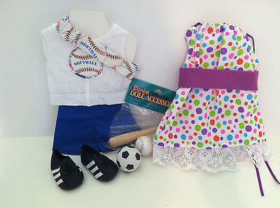 """baseball outfit with shoes Plus pillowcase dress  for American Girl or 18"""" Doll"""