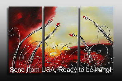 Modern ABSTRACT oil painting on Canvas  MODERN ART DECO