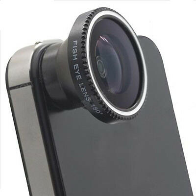 Hot New Magnetic Wide 180°Detachable Fish Eye Lens for CellPhone iPhone 4 4G 4S