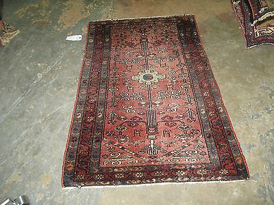 Vintage Persian Lilihan Wool Oriental area Rug Hand Knotted 2'-6 x 3'-11