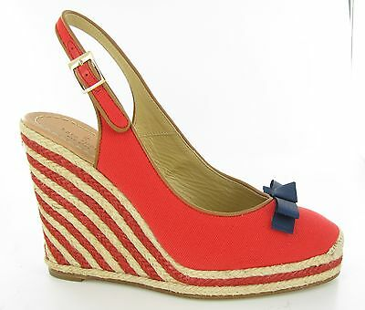 Kate Spade Sweetie Red Wedges Womens size 9 B New $280