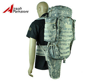 Tactical Military Swat Police Molle Rifle Gun Carrying Case Bag Backpack ACU