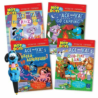Educational Insights Hot Dots Jr. Interactive Storybooks - 4 Book Set with Ace P