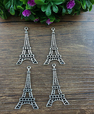 Vintage 6pcs tibet silver Eiffel Tower charms Pendant Jewelry Making 45x22mm