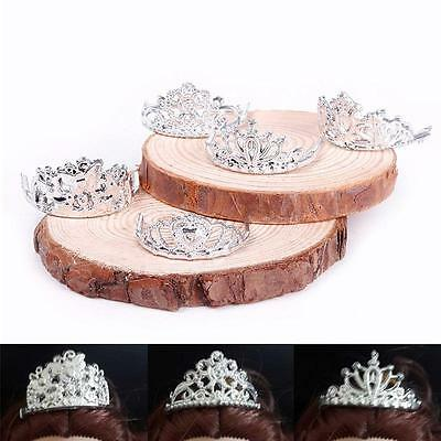 10pcs/Set Classic Crystal Plastic Silver Crown Headband For Barbie Doll Cute