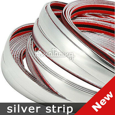 5M 20MMX16FT Car Chrome Moulding Trim Strip Styling Decoration Door Mirror Cover