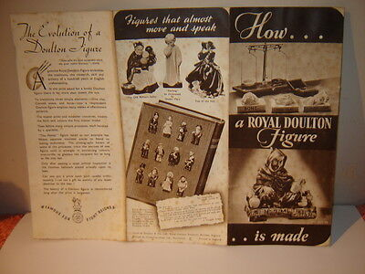 VINTAGE LEAFLET --- HOW A ROYAL DOULTON FIGURE IS MADE