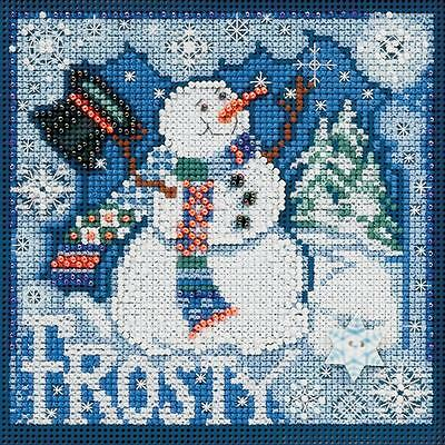 Counted Cross Stitch Kit  FROSTY SNOWMAN   By:  Mill Hill