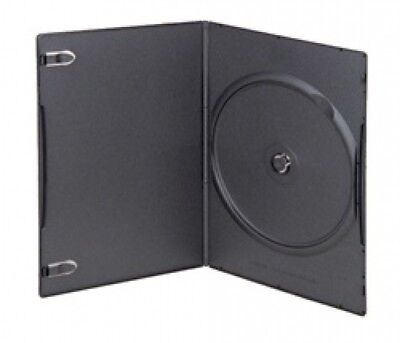 50 SUPER SLIM Black Single DVD Cases 5MM