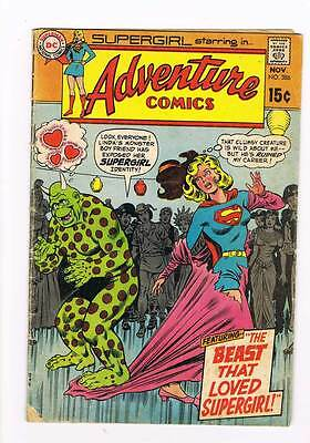 Adventure Comics # 386 the Beast that loved Supergirl ! grade 3.0 hot book !!