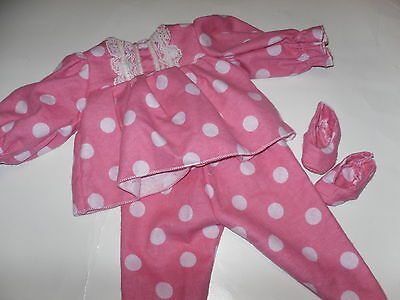 Pajama  Doll Clothes #5 /free Slippers  fits 18 in American Girl Doll