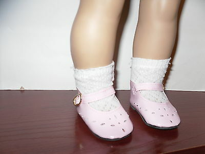 Pink American Fashion Doll Clothes Shoes for  18 inch  Girl Doll