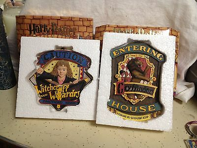TWO WALL PLAQUES---HERMIONE & GRYFFINDOR ---NEW INBOX