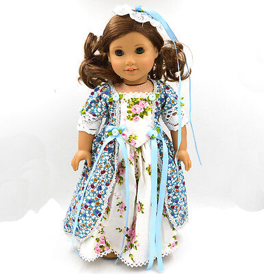 "2015 For American Girl Hot Handmade Long European noble dress 18""Doll Clothes"