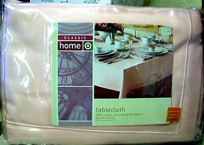 Target CLASSIC HOME - PINK TABLECLOTH 60x84 - 100% Cotton - PRETTY COLOR!  NIP!