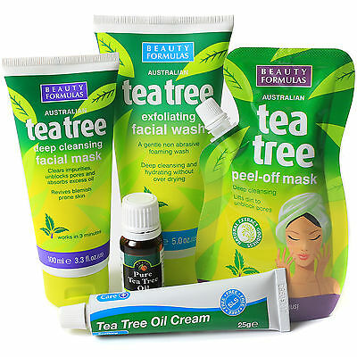AUSTRALIAN TEA TREE COSMETIC COLLECTION Natural Face Care Exfoliation Pack Set