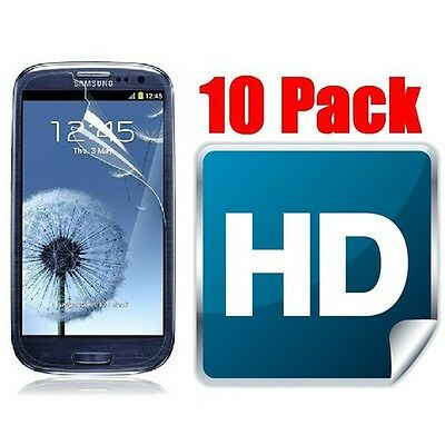 10 Pack Clear LCD Screen Protector Shield Guard Film For Samsung Galaxy S3 I9300