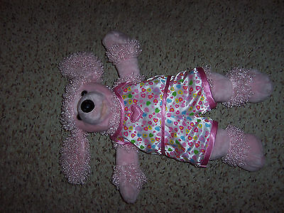 BUILD a BEAR pink poodle dog with heart silky pajamas CUTE!
