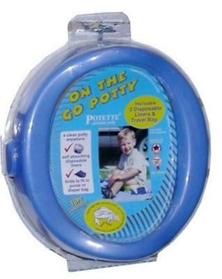 Potette On the Go Portable Travel Potty Chair-Blue (Damaged Packaging)