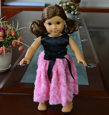 "Doll Clothes fits 18"" American Girl Handmade Pink Party Dress"