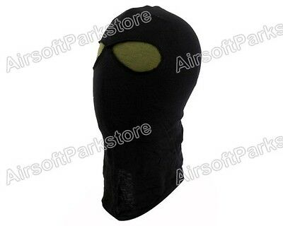 Airsoft Tactical SWAT Police Military Style 2 Holes Balaclava Hood Face Mask BK