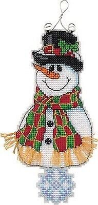 Counted Cross Stitch Kit SMILEY SNOWMAN Musical Ornament