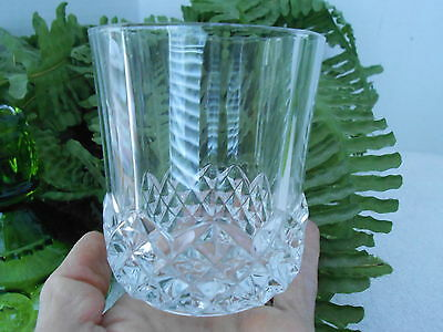 """Cristal d'Arques Valencay Double Old Fashion 3 3/4"""" Tall ~  French Tumbler"""