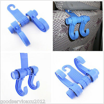 Vehicle Seat Double Head Bag Accessories Organizer Holder Blue Hook For Infiniti