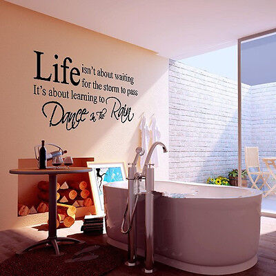 LIFE Letter Words PVC Removable Room Art DIY Wall Sticker Mural Home Decal Decor