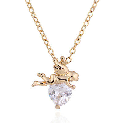 14k gold plated angle style clear crystal rhinestone bead chain necklace NL033