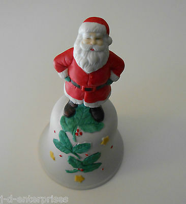 1991 Willitts Designs Christmas Bell with Santa and Holly Leafs