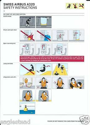 Safety Card - Swiss International Air Lines - A320 - c2008 (S3580)