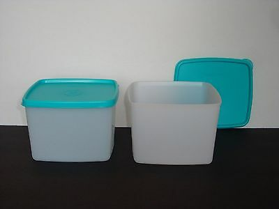 Tupperware Freeze-It Containers 3⅓ cup/800 mL Set of 2 Blue Seal Freeze NEW