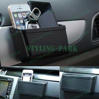 Car SUV Auto Mobile Cell Phone Charging Hole Pouch Garbage Storage Box Container