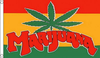 MARIJUANA FLAG 5' x 3' Pot Cannabis Hemp Leaf Flags