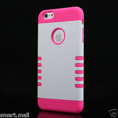 """New White 3 IN 1 Silicon Gel Rubber Skin Case Cover For Apple iPhone 6 Plus 5.5"""""""