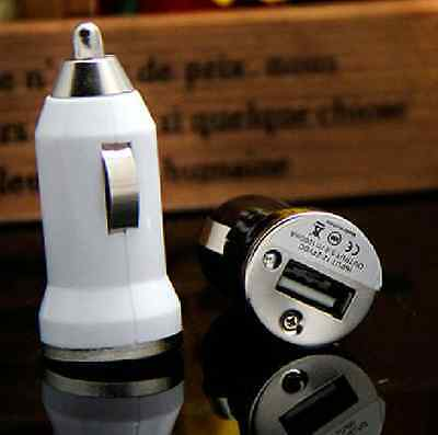 White Colour Hot Universal Mini USB Car Charger For iPhone/3G/4G/4/4S/5/5S iPod